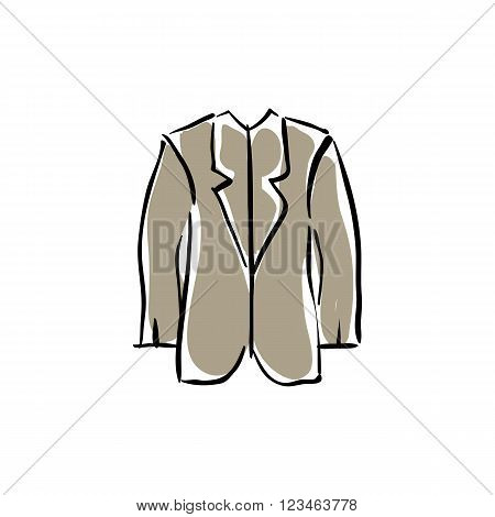 Illustration of vector medical robe drawn laboratory assistant clothing.