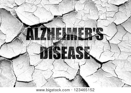 Grunge cracked Alzheimer's disease background with some soft flowing lines
