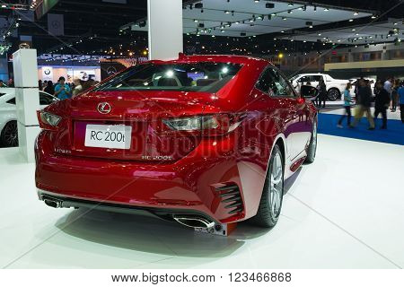 Nonthaburi - March 23: New Lexus Rc 200T On Display At The 37Th Bangkok International Motor Show On
