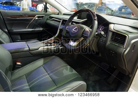 Nonthaburi - March 23: Interior Design New Lexus Rx 200T On Display At The 37Th Bangkok Internationa