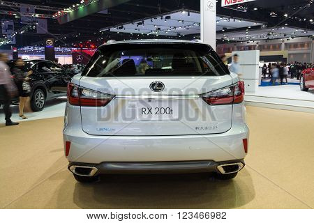 Nonthaburi - March 23: New Lexus Rx 200T On Display At The 37Th Bangkok International Motor Show On