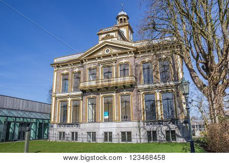 SAPPEMEER, NETHERLANDS - MARCH 26, 2016: Former school building in the center of Sappemeer, Netherlands