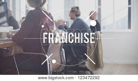 Franchise Merchandise Retail Business Marketing Concept