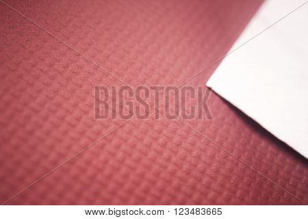 Paper Napkin On Restaurant Table