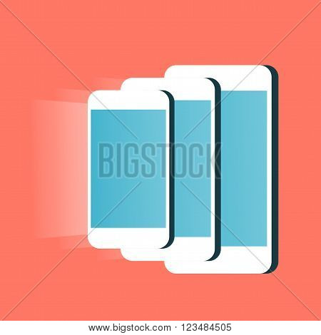 Mobiles phones. From highest to lowest and conversely. Material design. Smartphones