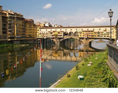 Een oude brug Florence