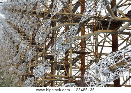 Soviet radar facility DUGA in Chernobyl Exclusion Zone