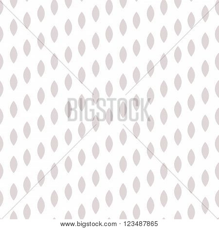 Simple drop polka dot gray shape seamless pattern. Vector geometric row background. Polkadot pattern. Dotted scandinavian ornament.