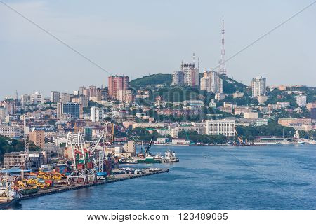 Panorama of Vladivostok city, Russian Federation, Far East