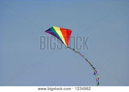 Rainbow Kite Blue Sky