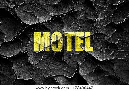 Grunge cracked Vacancy sign for motel with some soft glowing highlights