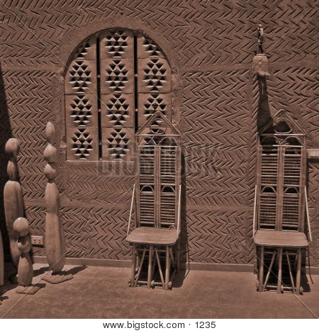Sepia Chairs & Window