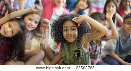 Diversity Diverse Ethnicity Ethnic Kids Offspring Concept poster
