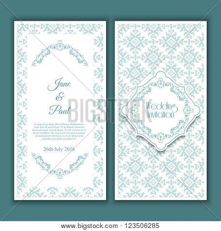 Decorative design for a wedding invitation