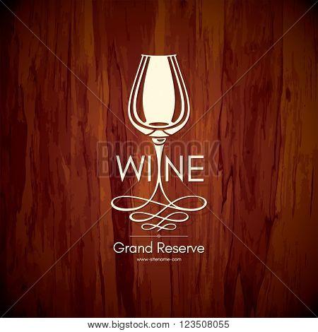 Logotype for wine shop, winery, wine list, restaurant