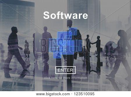 Software Development Program Technology Data Concept
