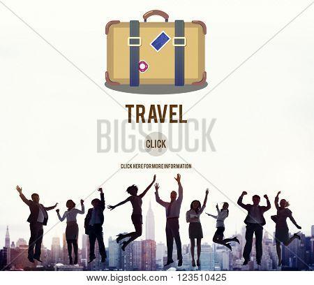 Holiday Travel Trip Journey Bag Symbol Concept