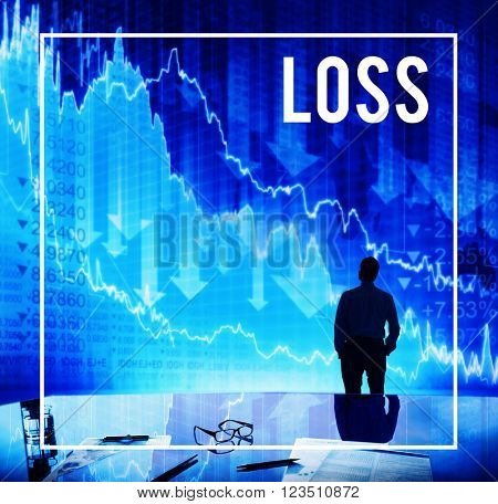 Loss Financial Business Fall Trouble Concept