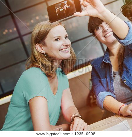 Selfie Pose Photography Smiling Bonding Diverse Unity Concept