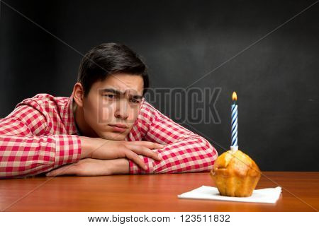 Sad birthday boy