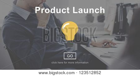 Product Launch New business Innovation Concept