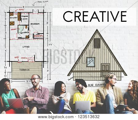 Creative Creativity Housing Interior Structure Concept