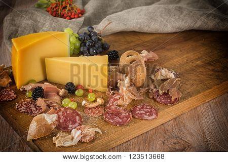 Food set on the table