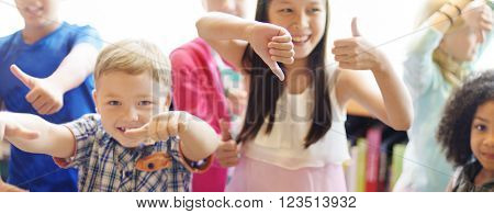 Students Children Cheerful Happiness Dancing Concept