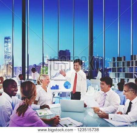 Business People Meeting Growth Success Concept