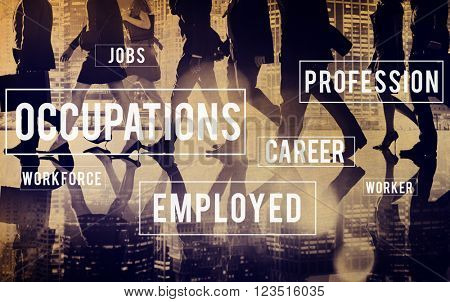 Occupations Career Employment Recruitment Position Concept