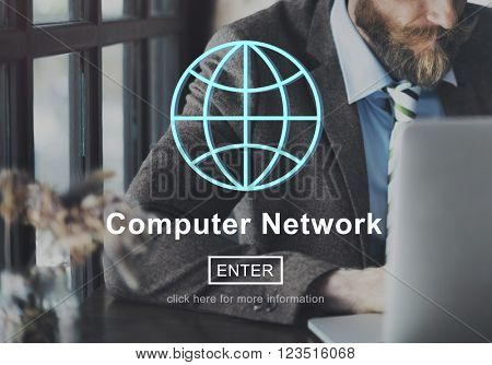 Computer Network Technology Online Internet Website Concept