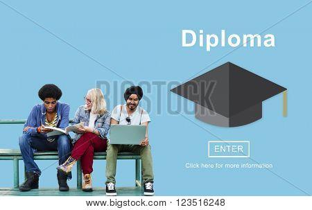 Degree Diploma High School Educational Concept