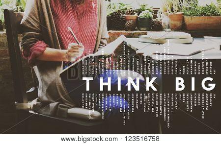 Think Big Faith Attitude Inspiration Optimism Concept