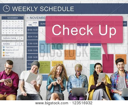 Check Up Clinic Diagnosis Health Illness Monitor Concept