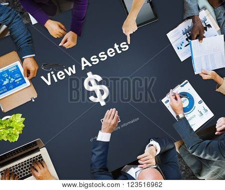 View Assets Banking Accounting Marketing Concept