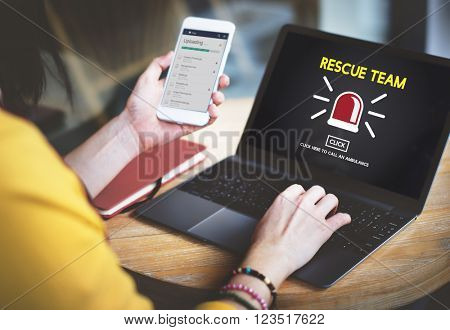 Rescue Team Paramedic Support Help Emergency Concept