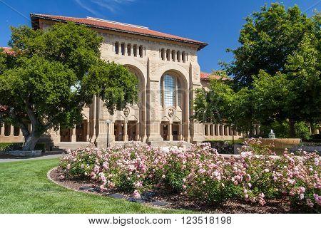 Palo Alto, Ca/usa - Circa June 2011: Building Of Stanford University Campus In Palo Alto,  Californi