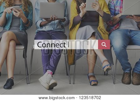 Connect Communication Social Media Networking Concept