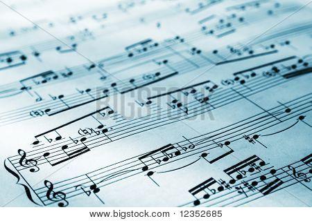 Blad van muzikale symbolen