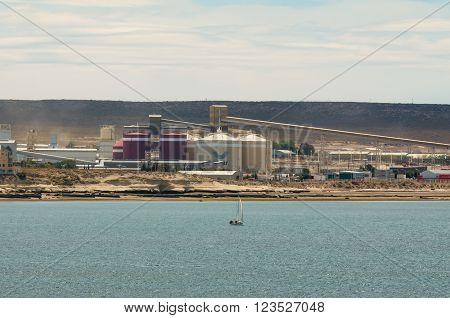 Puerto Madryn, Argentina - December 13, 2012:  Aluminium smelter