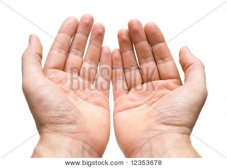 Two hands with palms up
