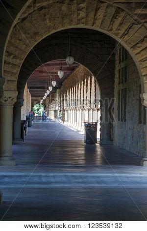 Palo Alto, Ca/usa - Circa June 2011: Galleries Of Stanford University Campus In Palo Alto,  Californ