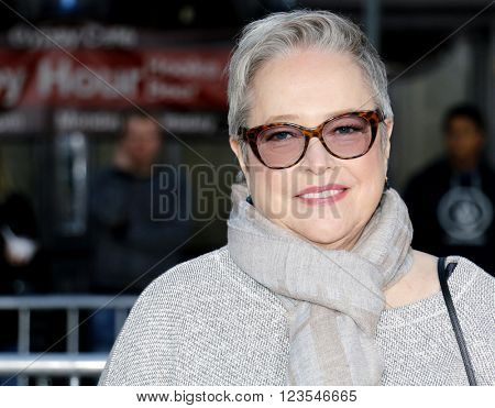 Kathy Bates at the Los Angeles premiere of 'The Boss' held at the Regency Village Theatre in Westwood, USA on March 28, 2016.