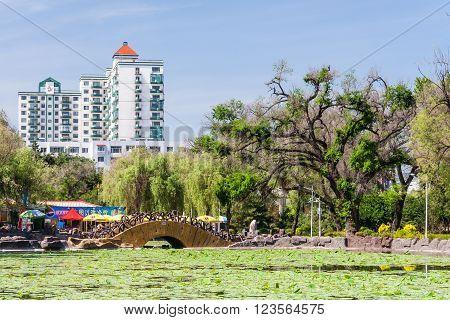 Jilin, China - Circa July 2012: Park In Jilin,  China