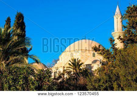 Hala Sultan Tekke or the Mosque of Umm Haram. Larnaca, Cyprus