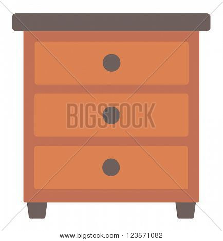 Brown bedside table