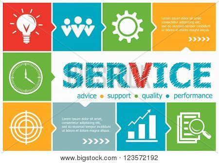 Service Design Illustration Concepts For Business, Consulting, Management, Career.