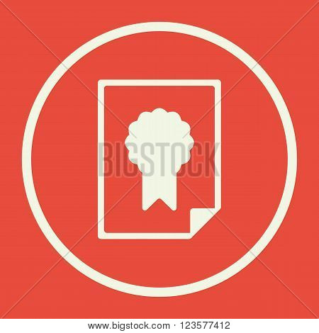 Charter Icon In Vector Format. Premium Quality Charter Icon. Web Graphic Charter Icon Sign On Red Ba