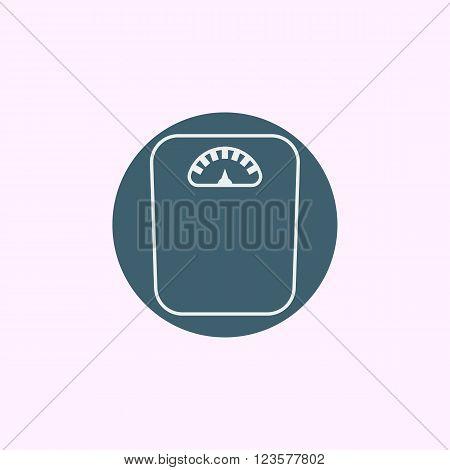 Libra Icon In Vector Format. Premium Quality Libra Icon. Web Graphic Libra Icon Sign On Blue Circle
