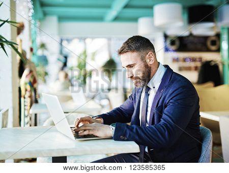 Browsing on laptop